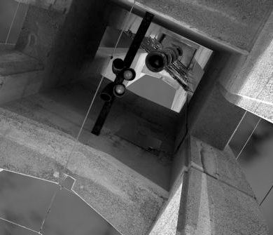The inside of the bell tower on Temple University's main campus, North Philadelphia.