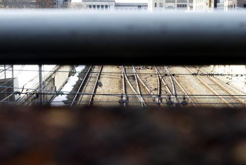 SEPTA Regional Rail Tracks near 30th Street Station, Philadelphia.