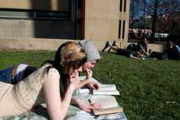 Sterling and I reading on Beury Beach.