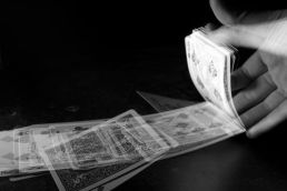 The release of a deck of cards shot in the style of Harold Edgerton, inventor of the electronic flash.