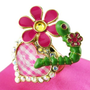 Betsey Johnson's Pink Picnic Ring $42