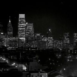 The Philadelphia Skyline, view the Edge at Avenue North, North Philadelphia.