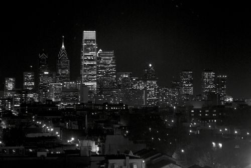 The Philadelphia Skyline, view the Edge at Avenue North, North Philadelphia.
