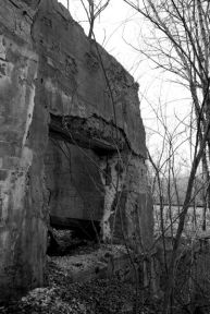 One of the many abandoned pieces of buildings in the woods.