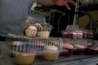 Boxes of various cupcakes at Cupcake Stop.