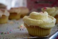 Vanilla cupcake from Magnolia Bakery
