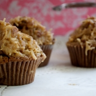 German Chocolate cupcakes by Magnolia Bakery