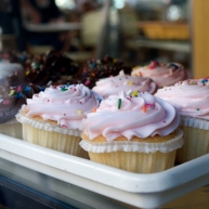 Pretty pink cupcakes in tutus!