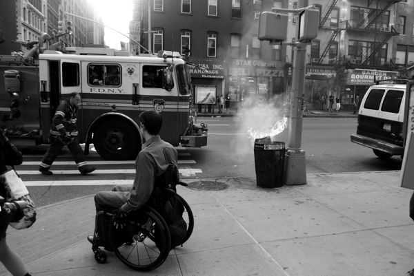 """Many of the comments I hear as I snap photos is, """"She's taking pitchers of it!"""" """"Did any call the fire department?!"""" My photo shoot was stunted as soon as it began, by the arrival of the NYFD."""