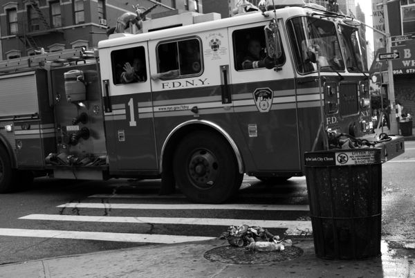 Goodbye, firemen, it's been real. Oh, and thanks for leaving us with a mess possibly more hazardous than the first one.