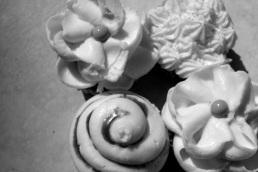 Vanilla Bliss, Cinnacake Classic, and 24-Carrot cupcakes from Cinnabon.