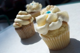 Four cupcakes from Cinnabon, The Mall at Steamtown, Scranton, PA.