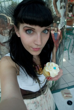 Vanilla Bliss cupcake at the Mall at Steamtown, Scranton, PA.