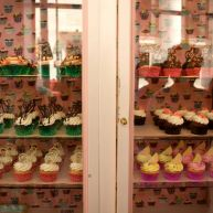Dozens of flavors are on display daily in the shop's vintage Victoria Secret display cases.