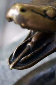 A serpent sculpture in Rittenhouse Square.