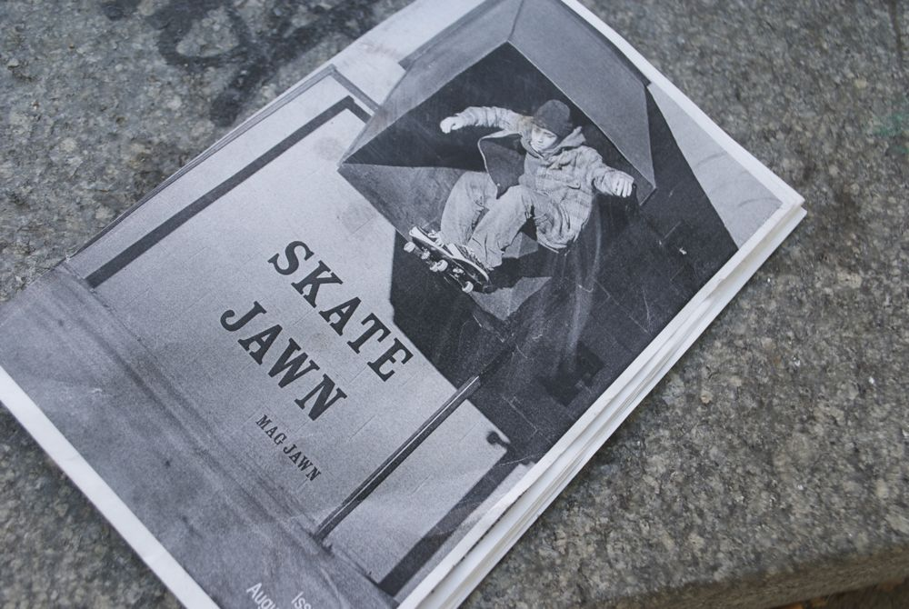 A pamphlet floats around the grounds the skaters use as a skate park.