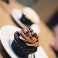 A chocolate cupcake from Naked Chocolate.