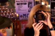 Minou joins the photographic fun at Rim Café, Friday night.