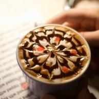 Sterling's raspberry cappuccino, a Rim Café masterpiece.