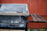 We haven't even put the grill away or covered it up, yet!