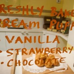 Tutti Frutti's famous creme puffs.