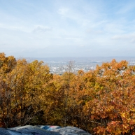 """A view of the Wyoming Valley from the top of """"Giant's Despair,"""" Laurrel Run, PA."""