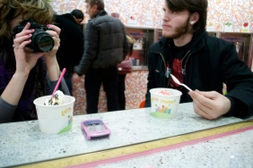 Kyle joined me on my final FroYo escaped Saturday afternoon at Yogurt City, 13th and Chestnut Streets.