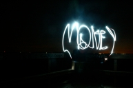 Steph wrote Money with a flashlight when the sun was finally all gone.