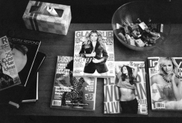 Somehow, we've acquired quite an array of reading material on our coffee table....