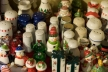 A sea of salt and pepper shakers.