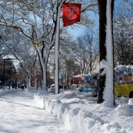 Temple University, known for almost never canceling class due to weather, for being fatefully located in the worst part of Philadelphia, and for having a large number of commuters from various parts of Southeast PA.