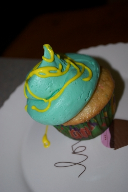 "The ""Hoban Cupcake"" bleed green and gold! ARGENT NATION! ok ok...."