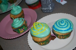 It took a lot of extra icing to distract from the holiday-green.