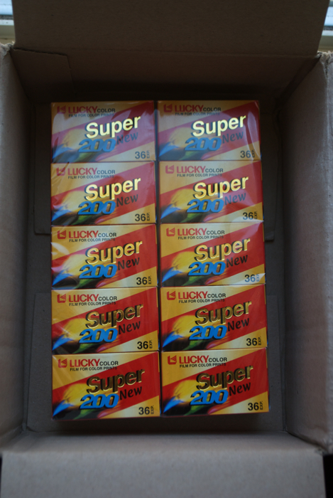 10 rolls of 36 exposure 200 speed Lucky color film.