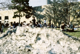 I am beginning to believe in global warming - how often do I see kids enjoying the sun on Beury Beach AND a huge, dirty snow pile? Only on February 18, 2011.