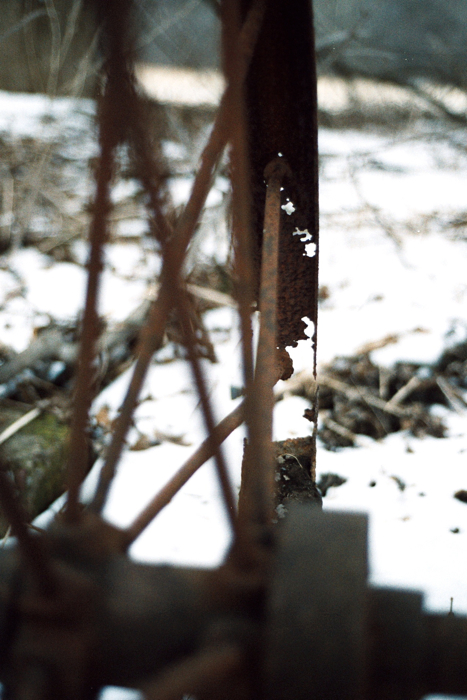 Rusted through.