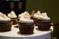The chocolate cupcakes, with just the right amount of buttercreme icing on them!