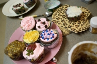 We tried to keep this a nice, sane cupcake decorating party, but it did get a bit out of hand.