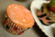 The Pink Glazed cupcake.
