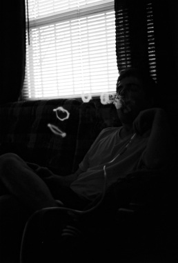 I fully appreciate the countless afternoons I had off, to sit in Sterling's living room and watch him blow hookah smoke rings.