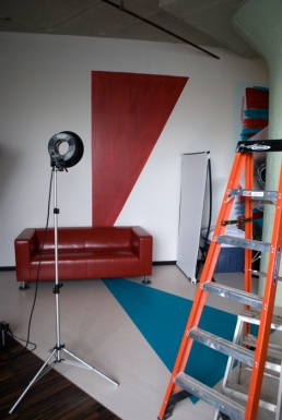 """I love red and turquoise, and """"Oz""""'s studio had it all!"""