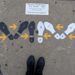 I have no idea what these were - dance moves? - they were all over the side walks on this awkward corner block.
