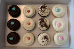 Chocolate, Red Velvet, Cookie n Creme, and Vanilla!
