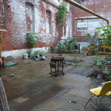 The Garden Courtyard, perhaps a little escape for the workers. No idea how cramped or hot it got inside the factory, who knows.