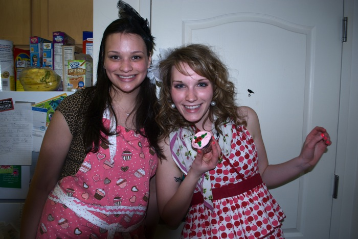 Ally's 21st birthday and Betsey Johnson cupcake night, March 29, 2011.