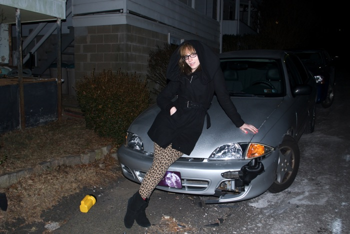 Aunt Nel backed into my car, December 2010.