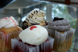 Strawberry Cheesecake, Smores, Cookie n Creme, and Red Velvet.