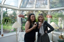 Jaleh, our cupcakes, and me in the sunroom.