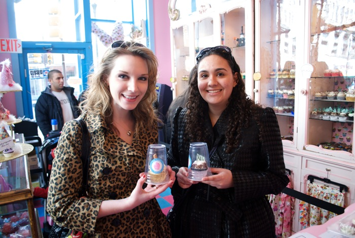 So happy I made a friend who loves cupcakes as much as I do - Jaleh and I in Philly Cupcake after St. Patrick's day.