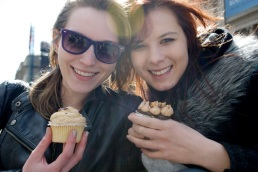 Cupcakes from the cart outside the Met with Lindsay, April 2, 2011.